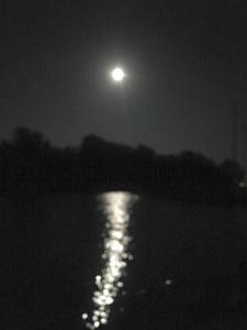 Volle maan boven het Grevelingenmeer